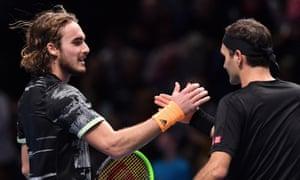 Stefanos Tsitsipas Beats Roger Federer In Atp Finals Semi Final As It Happened Sport The Guardian