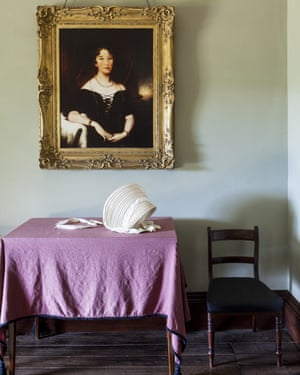 A portrait of Elizabeth Macarthur hangs in the entrance hall of Elizabeth Farm