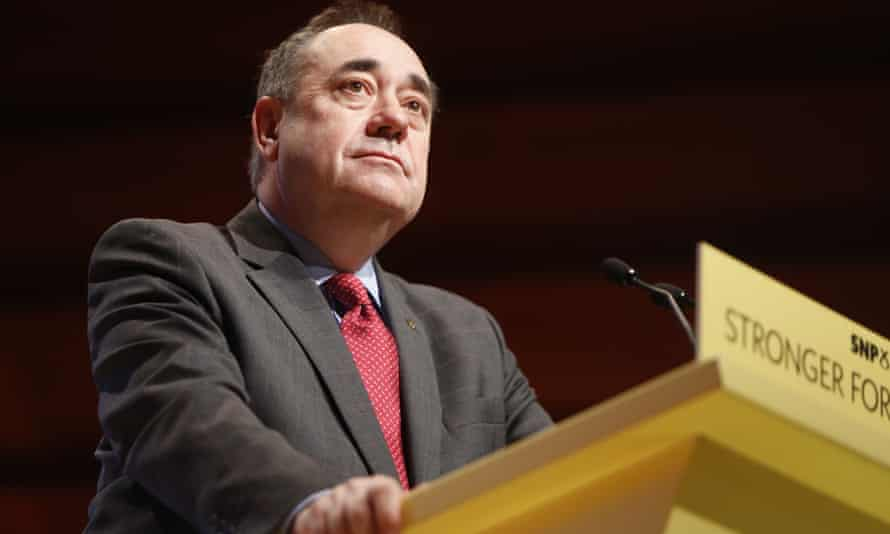 Alex Salmond gives his last speech as SNP leader in November 2014.