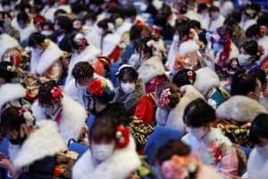 Masked crowds