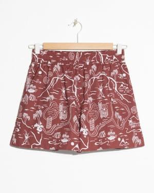Tropical map print shorts