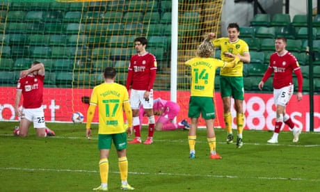 Championship roundup: Norwich open gap at top with win over Bristol City