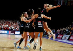 New Zealand players celebrate after winning the World Cup.