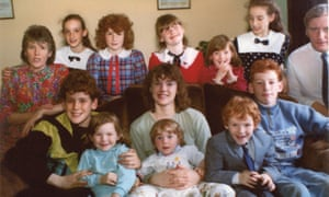 'Contrary to the expectations of non-Irish people, it was highly unusual to have a family so large': Seamas's whole family.