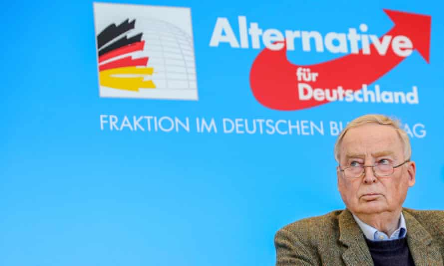 Alexander Gauland, co-Bundestag faction leader of the AfD party, speaks to the media on 3 March in Berlin