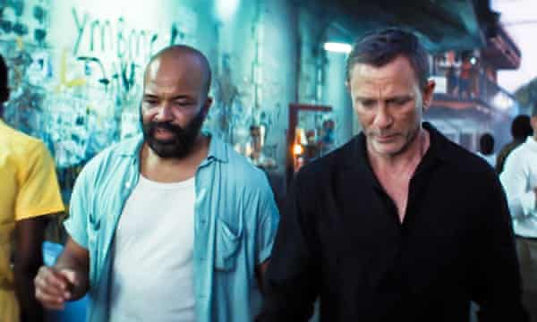 As Felix Leiter with Daniel Craig as Bond in No Time to Die.