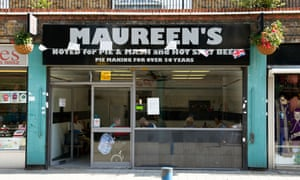 Chrisp Street market still has its characteristic pie and mash shops, but will they survive the area's regeneration?