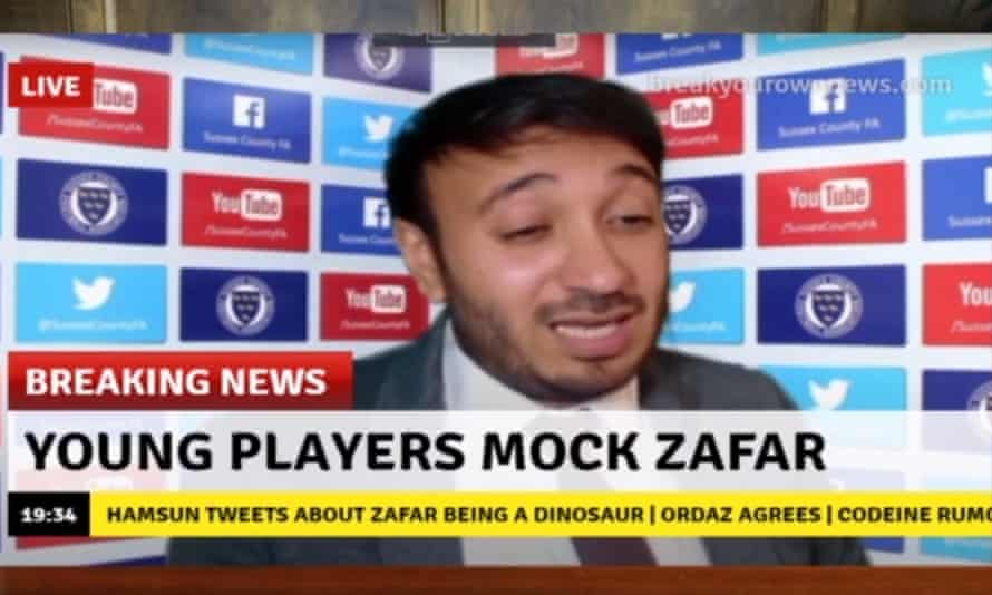 'They can give really stupid advice and I'll give it to the players' ... Bilal Zafar as The Gaffer.