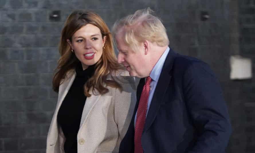 Prime Minister Boris Johnson and his partner Carrie Symonds