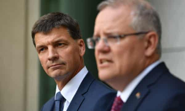 Angus Taylor and Scott Morrison