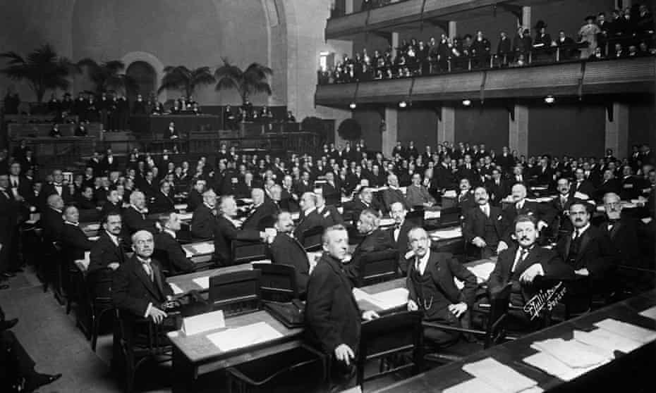 The League of Nations' first meeting, 1920