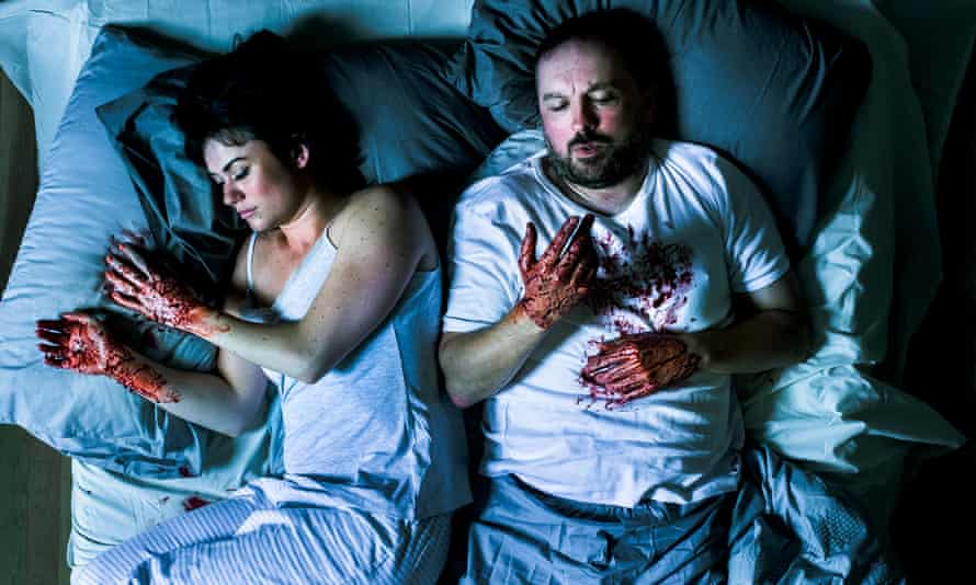 Blood on their hands ... Charlene Boyd and Keith Fleming in The Macbeths.