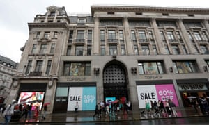 Topshop's flagship store in Oxford Street