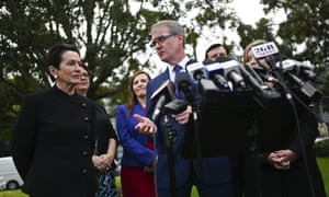 The opposition leader, Michael Daley, and the lord mayor of Sydney, Clover Moore