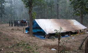 Arriving at a Naxalite forest camp for a 'cooking lesson', from Nightmarch.