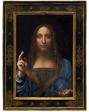 Salvator Mundi is an ethereal portrait of Jesus Christ.