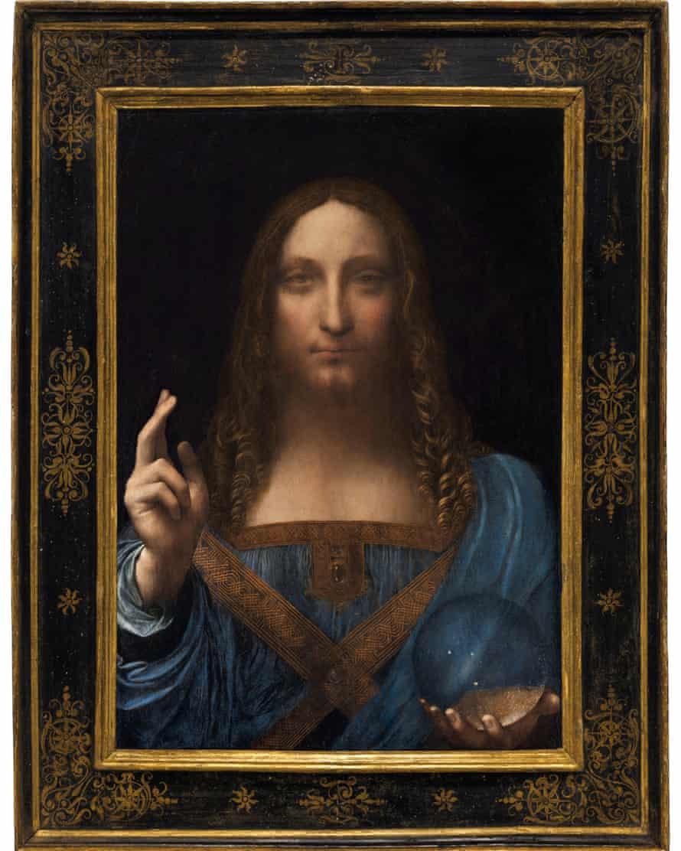 Salvator Mundi, an ethereal portrait of Jesus Christ.