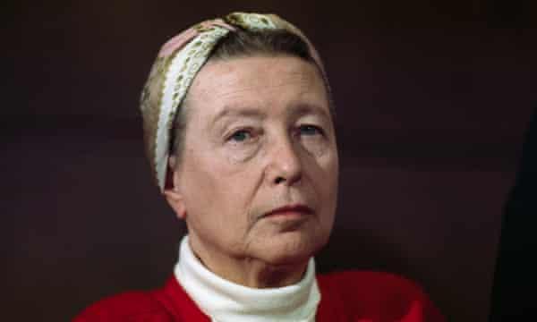 French Existentialist and Writer Simone De Beauvoir2/1968-Paris, France