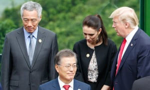 Jacinda Ardern first met Donald Trump face to face at the east Asia summit in Vietnam