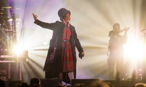Lauryn Hill performing at the SSE Hydro, Glasgow.