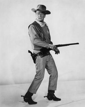 Cowboys and indians ... John Wayne in 1965.