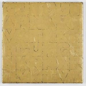 Small Gold Senza Titolo, 2012, by Gavin Turk.