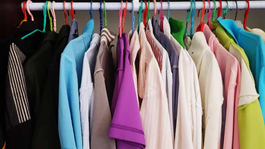 Clothes on rail