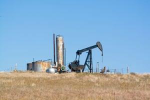 An oil pump on the Tallgrass Prairie reserve in Oklahoma.