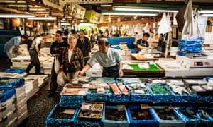 Tsukiji fish marke.