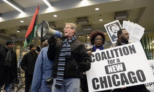 Protesters, angry over Chicago police shootings, try to disrupt the mayor's annual breakfast honoring Martin Luther King Jr on Friday.