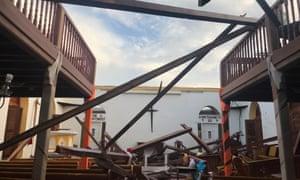 Anguilla after Hurricane Irma hit.