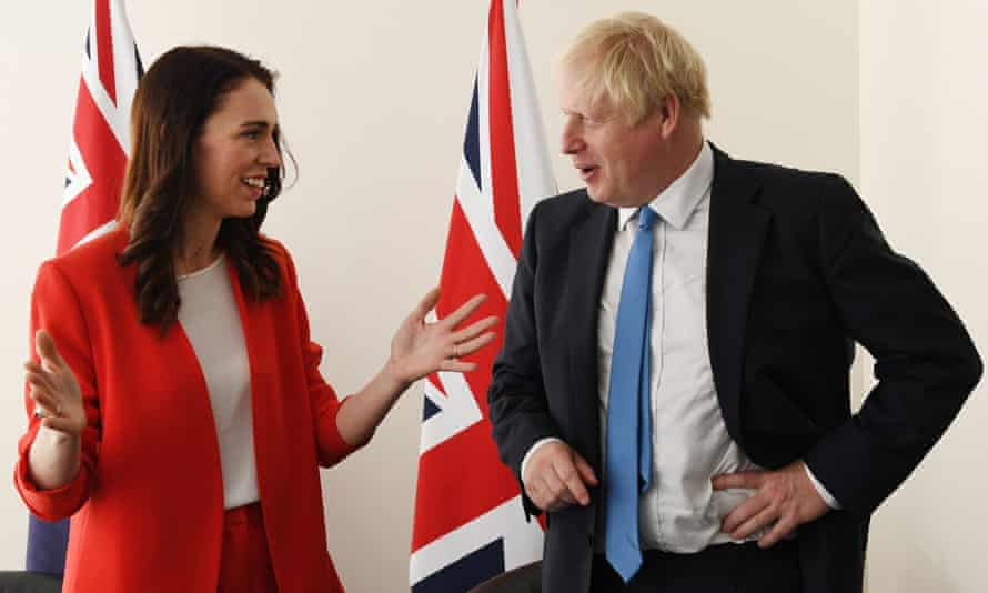 Prime Minister Boris Johnson meets the Prime Minister of New Zealand Jacinda Ardern at the United Nations Headquarters in New York, USA, ahead of the 74th Session of the UN General Assembly. September 23, 2019.