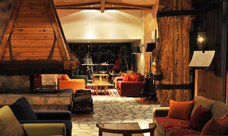 Interior, the lounge, at Hotel Bianca, Kolasin, Montenegro.