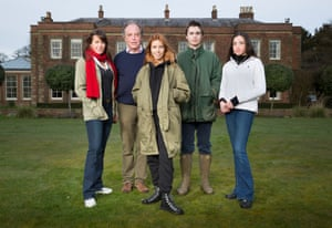 The Arkwright family with Stacey Dooley