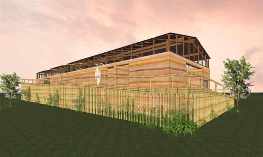 Architectural drawings of Yinka Shonibare's Ecology Green Farm in Nigeria.