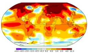 February 2016 global surface temperature anomalies.