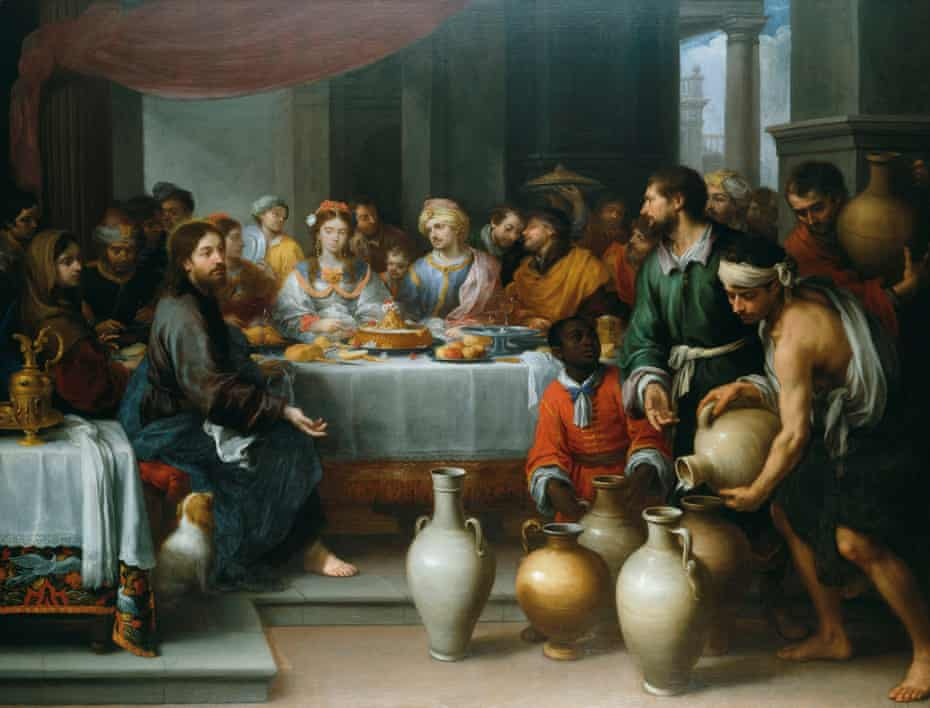 The Marriage Feast at Cana (c1672) by Bartolomé Esteban Murillo. H:179cm, W:235cm.