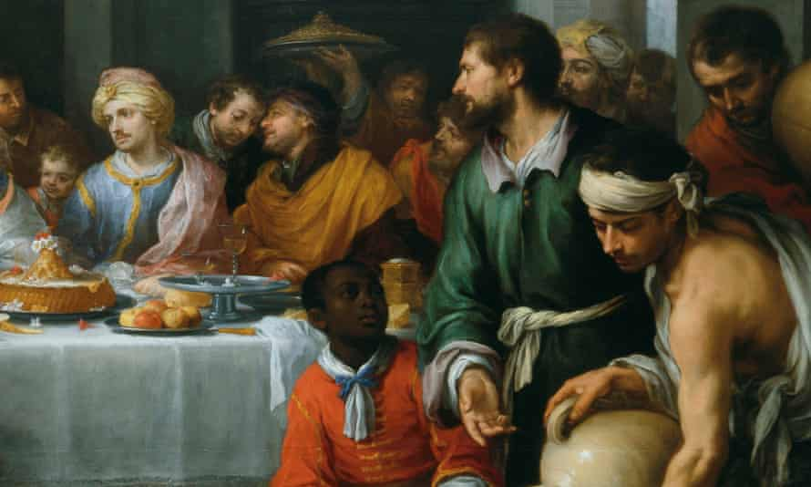 One exception ... Detail of The Marriage Feast at Cana (c.1672) by Bartolomé Esteban Murillo.