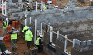 Houses under construction on a new development. Sajid Javid says up to 300,000 new homes a year need to be built.