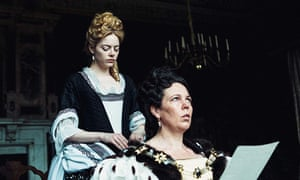 Emma Stone and Olivia Colman in The Favourite.