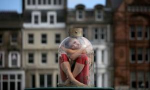 Contortionist Odka, from Cirque Berserk, performs in Edinburgh