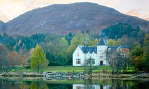 The Glenfinnan House Hotel on the edge at Loch Shiel, the Highlands, Scotland