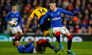 Ryan Kent, right, in action here against Young Boys, cost Rangers £7m.