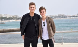 Caspar Lee and Joe Sugg during a photocall for the 'Joe and Caspar Hit the Road' MIPTV, Cannes, France - 05 Apr 2016
