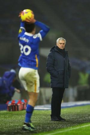 Jose Mourinho looking glum.