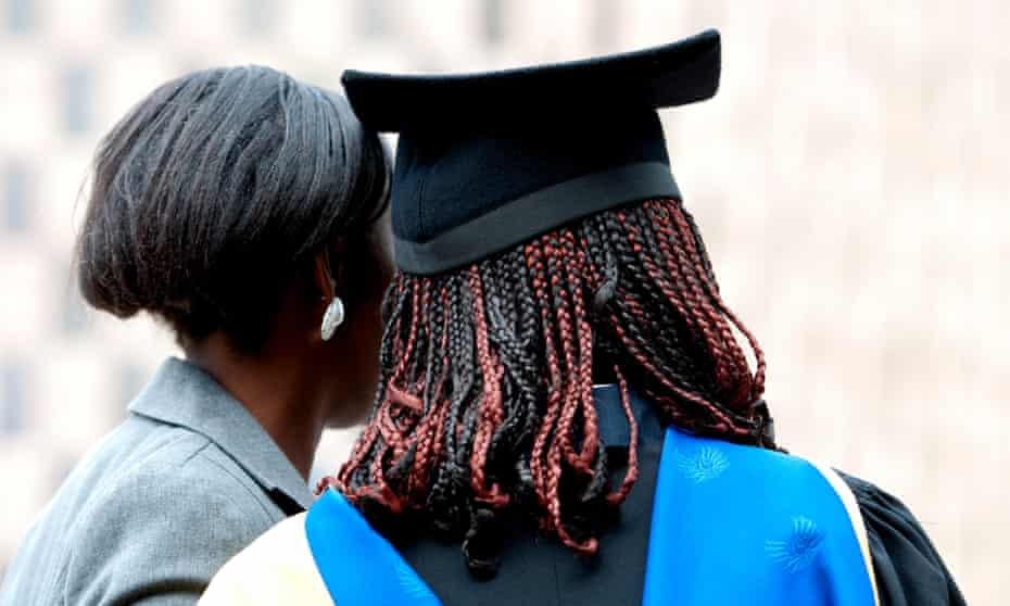 Black students on graduation day
