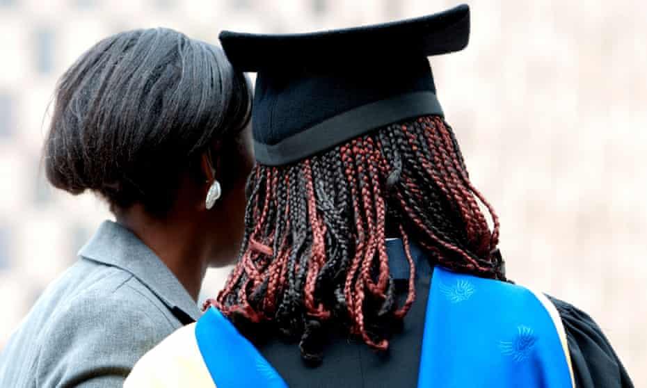 Black people at a university graduation ceremony