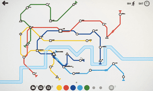 A network of trains in Mini Metro