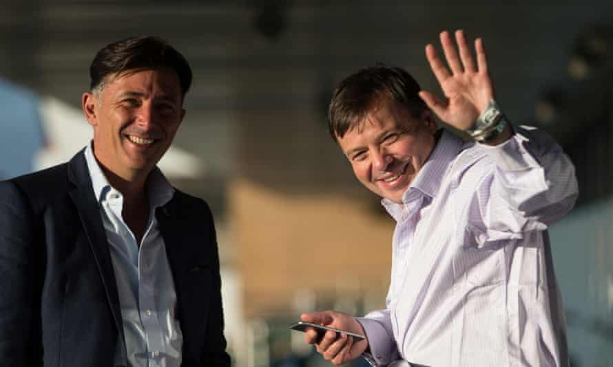 Arron Banks (r) with Andy Wigmore