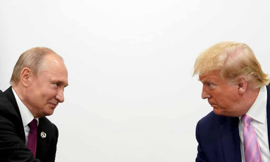 Trump and Putin in Osaka last year. The pair spoke by phone six times between 30 March and 1 June apparently without the Afghanistan issue being mentioned.